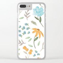 Bleu de Fleur Clear iPhone Case