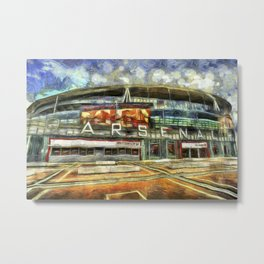 Arsenal FC Emirates Stadium Art Metal Print