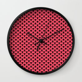 Dragon Scales Teal  Wall Clock