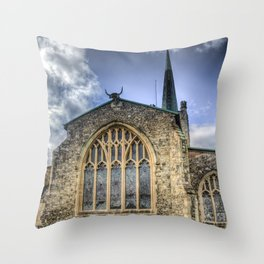 Horned Church Throw Pillow