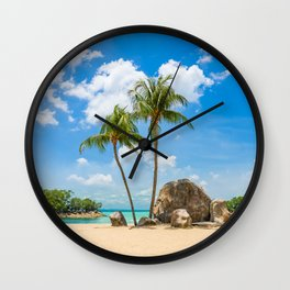 Siloso beach Wall Clock