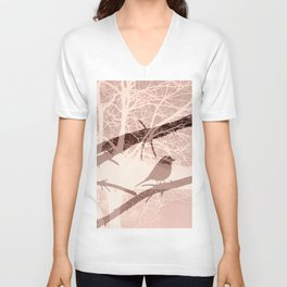Bird tree Unisex V-Neck