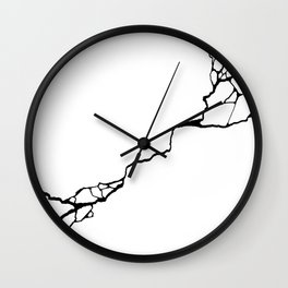 Diagonal Destroyed Light Wall Clock