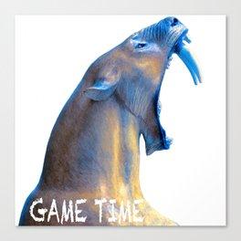 Hear Me Roar - Game Time Canvas Print