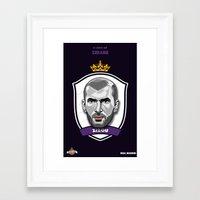 zidane Framed Art Prints featuring Zidane by Rudi Gundersen