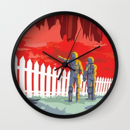 KEPLER-186f Where the Grass is Always Redder on the Other Side; JPL Visions of the Future Poster Wall Clock