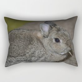Pumpkin munching on some hay Rectangular Pillow