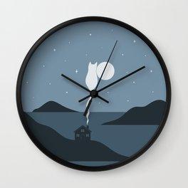 Cat Landscape 45 Wall Clock