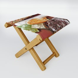 Sage & Crystals Folding Stool