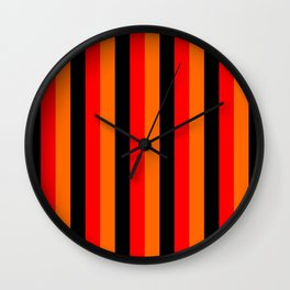 black red yellow stripes home decor Wall Clock
