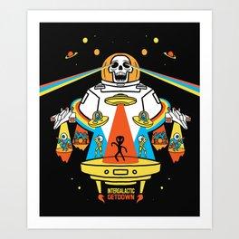 Intergalactic Get Down Art Print