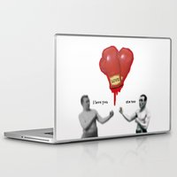 boxing Laptop & iPad Skins featuring BOXING LOVE by LOOKING FOR MY MONOCLE