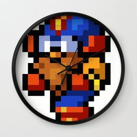 final fantasy Wall Clocks featuring Final Fantasy II - Cid by Nerd Stuff
