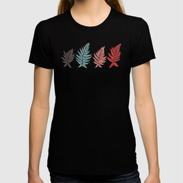 Inked Ferns – Red & Green Palette T-shirt
