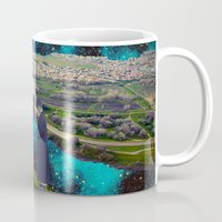 river Mugs featuring River by Cs025