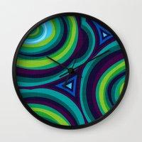 malachite Wall Clocks featuring Malachite by Alex Morgan