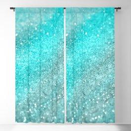 Aqua Teal Ocean Glitter #1 #shiny #decor #art #society6 Blackout Curtain