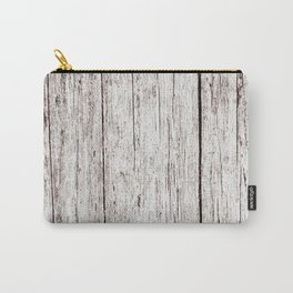 Pale Brown Wood Cottage Chic Rustic Wood Grain Texture Carry-All Pouch