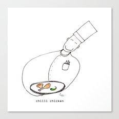Chilli Chicken Canvas Print