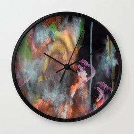 Abstract Art Under the Sea Wall Clock