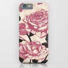 Toile de Jouy Rosas cálidas Slim Case iPhone 6s