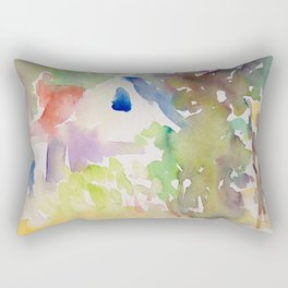 Summer Garden Light Rectangular Pillow