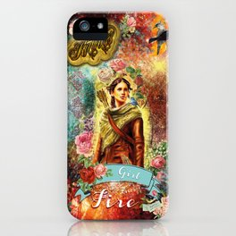Katniss - Girl on Fire iPhone Case
