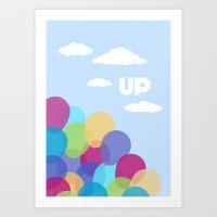 pixar Art Prints featuring Pixar/Disney Up (Print 2) by Teacuppiranha