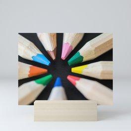 Circle on a Black Desk Mini Art Print