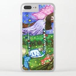 Fireflies in the garden. Clear iPhone Case