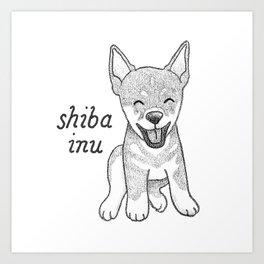 Dog Breeds: Shiba Inu Art Print