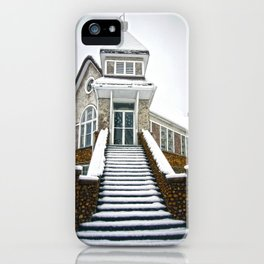 Church in the Snow iPhone Case