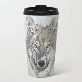 Wolf Head Illustration Travel Mug