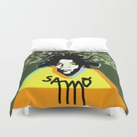 basquiat Duvet Covers featuring Jean Michel Basquiat by SNACKONART