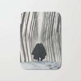winter in the wardrobe Bath Mat