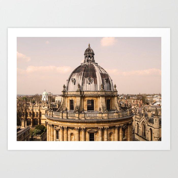 ArtWork Oxford Oxfordside UK Orange Art Print