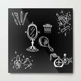 Cosmetics Themed Illustration Metal Print