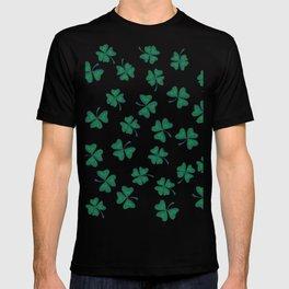 Retro Vintage St Patricks Day Green Shamrock Clover T-shirt