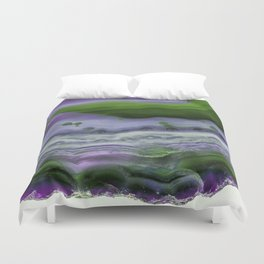 Purple and Green Agate Duvet Cover