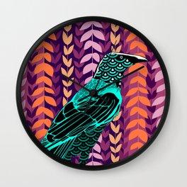 Wild Raven Wall Clock