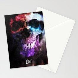 Geometric Skull v2 Stationery Cards