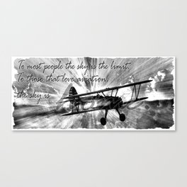 The Sky is Home Canvas Print