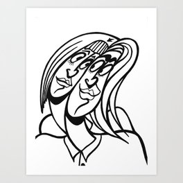 ★~(◡﹏◕✿) Art Print
