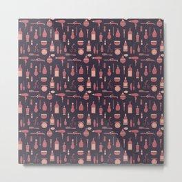 Beauty equipment pattern Metal Print