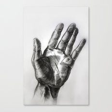 hand drawing hand Canvas Print
