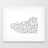 polygon Framed Art Prints featuring Polygon by Boneva