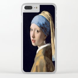 Johannes Vermeer's Girl With a Pearl Earring Clear iPhone Case