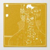 gustav klimt Canvas Prints featuring Gustav Klimt  by Ian Cy