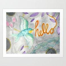 Hello Bird No. 2 Art Print