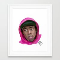 tyler the creator Framed Art Prints featuring Tyler the Creator by SELS - Sebastian Emilio Luna Sevilla